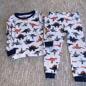 carter's dinosaur pajama size 2t
